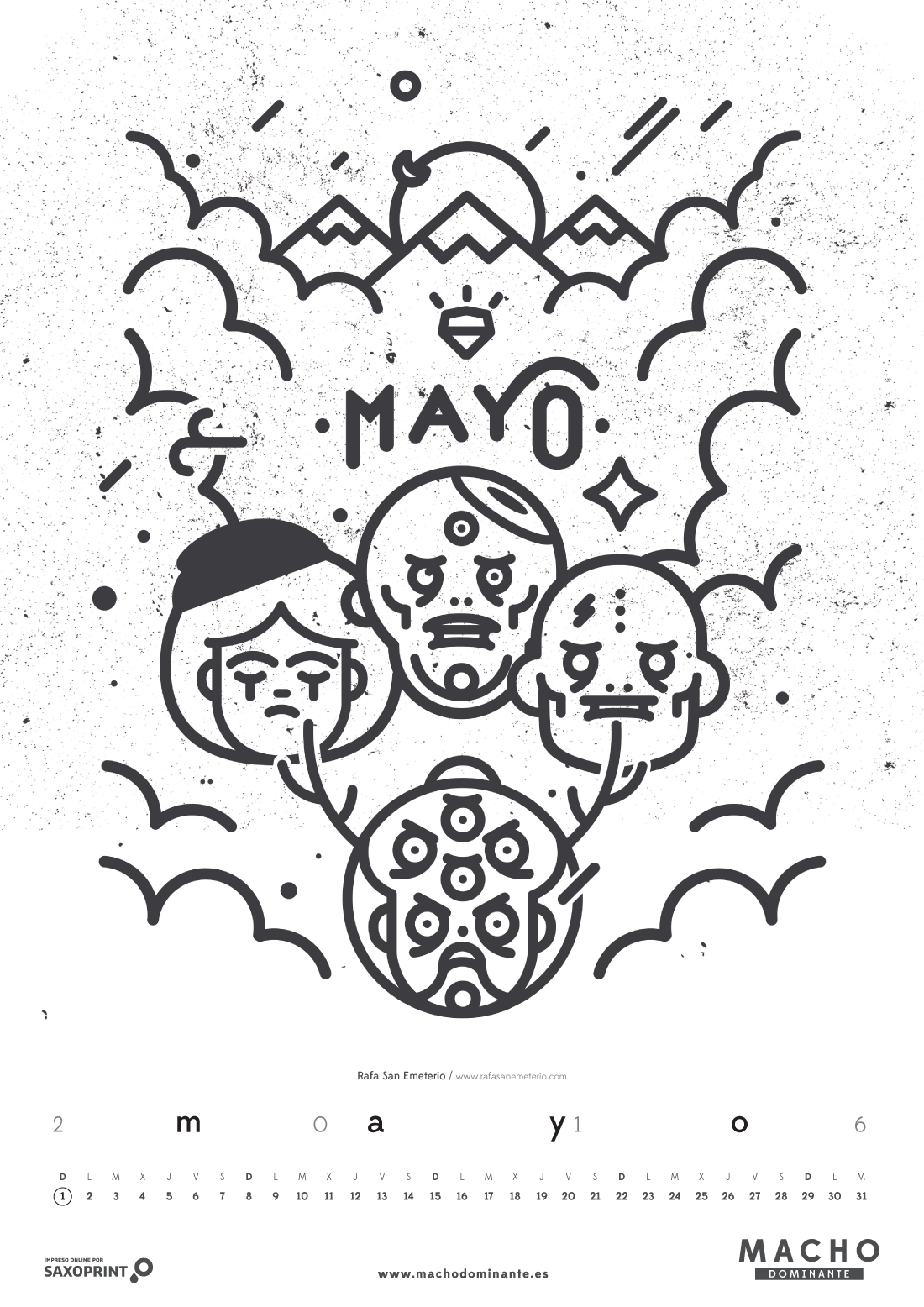 Calendario 2016 Macho Dominante