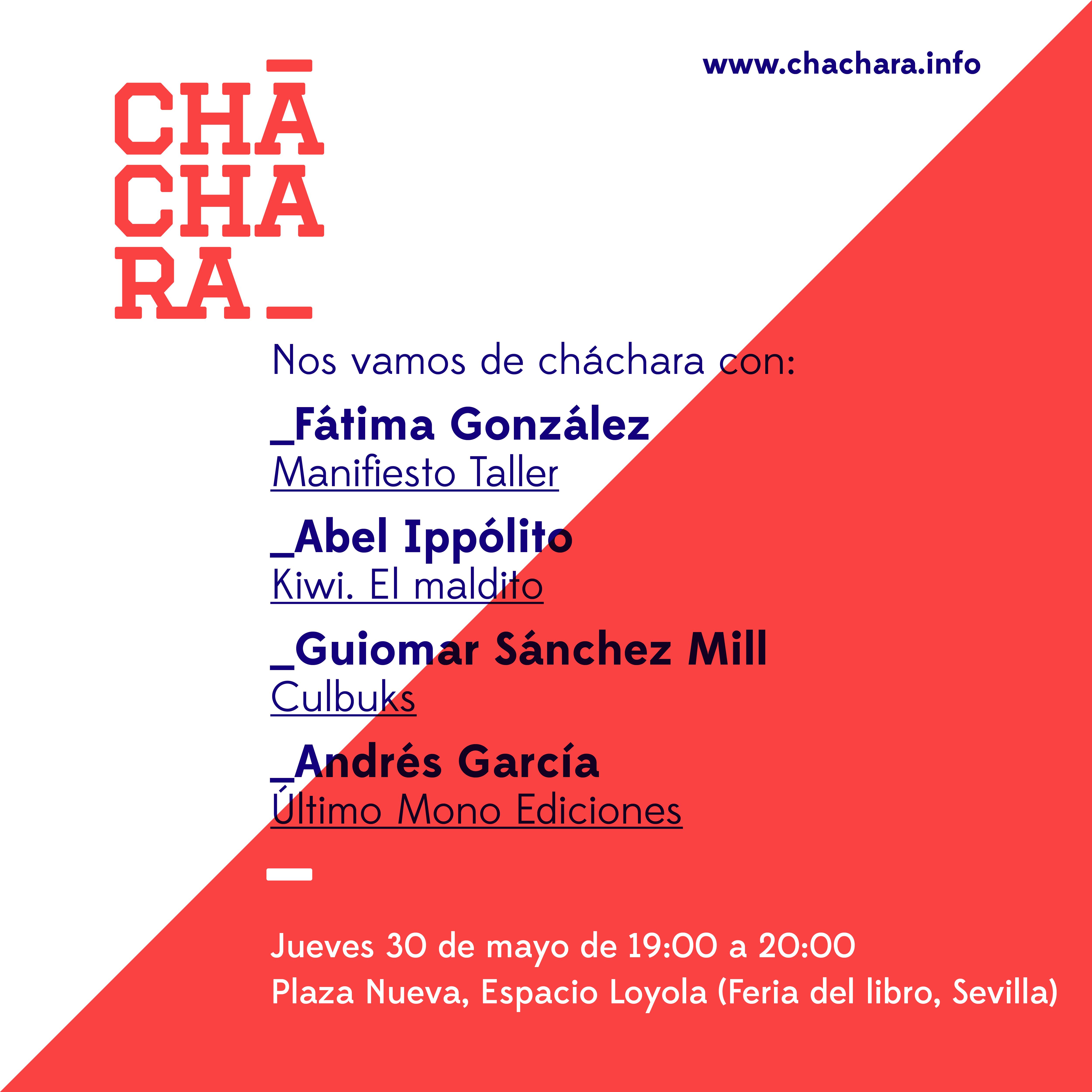 Cháchara Feria del libro Sevilla 2019